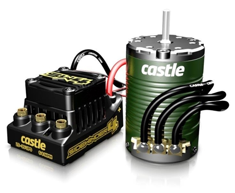 Castle SIDEWINDER 4 12 6V ESC WP Combo 1410-3800KV Sensor M
