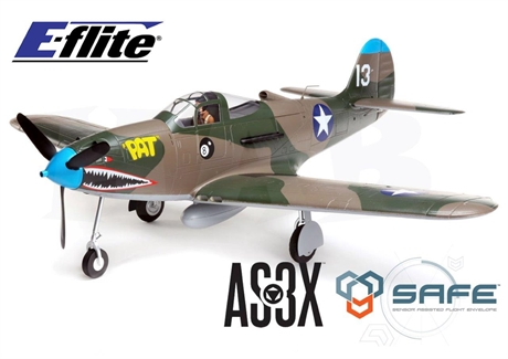 E-FLITE P-39 Airacobra 1 2m BNF Basic with AS3X and SAFE Set